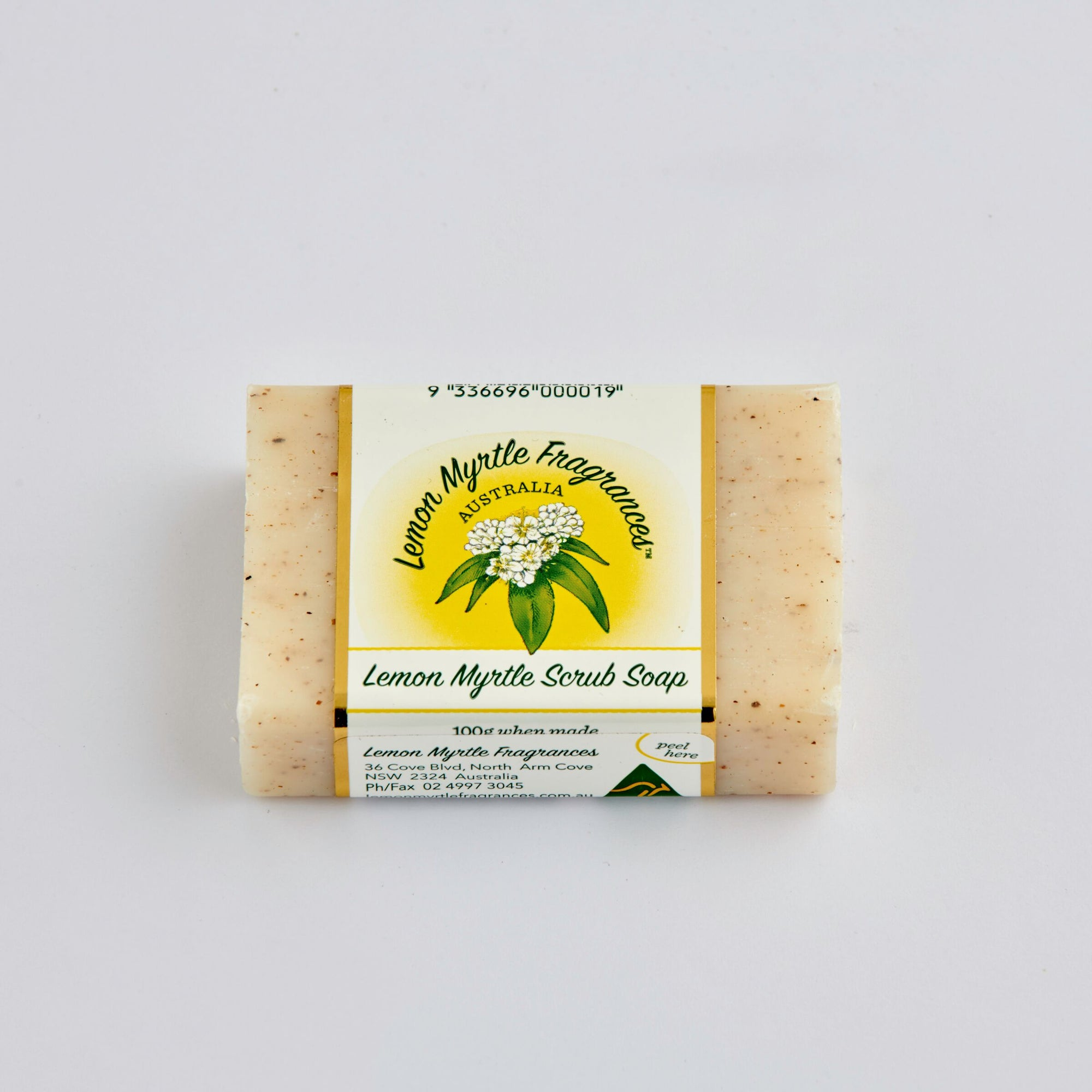 Natural Lemon Myrtle Soap - Single Scrub Bars