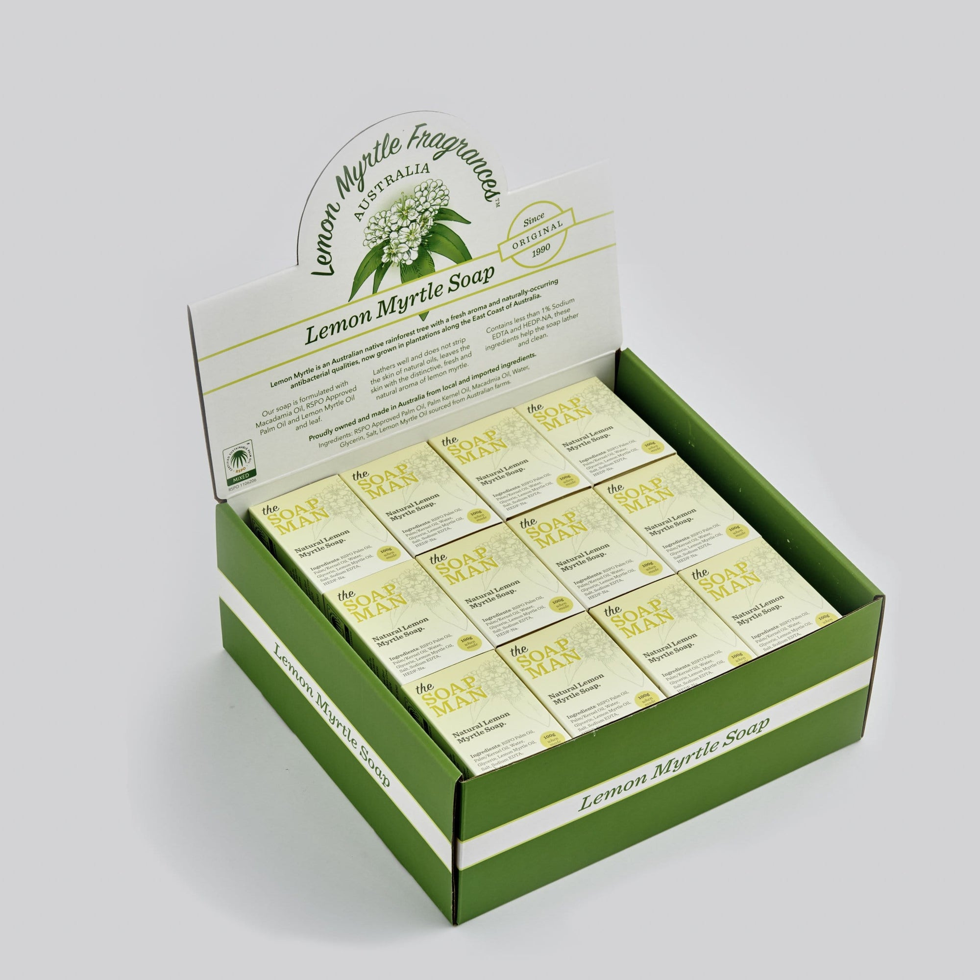 The SoapMan Soap - Australian Botanic Oils Soap CDU of 48