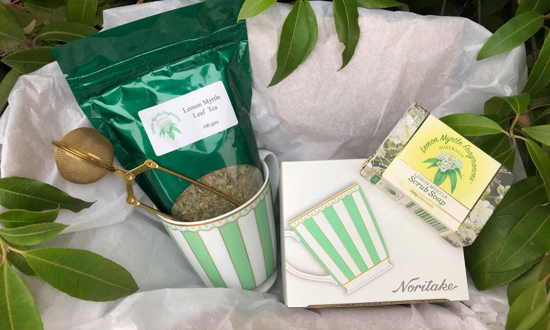 Natural Lemon Myrtle Tea and Cake Gift Box