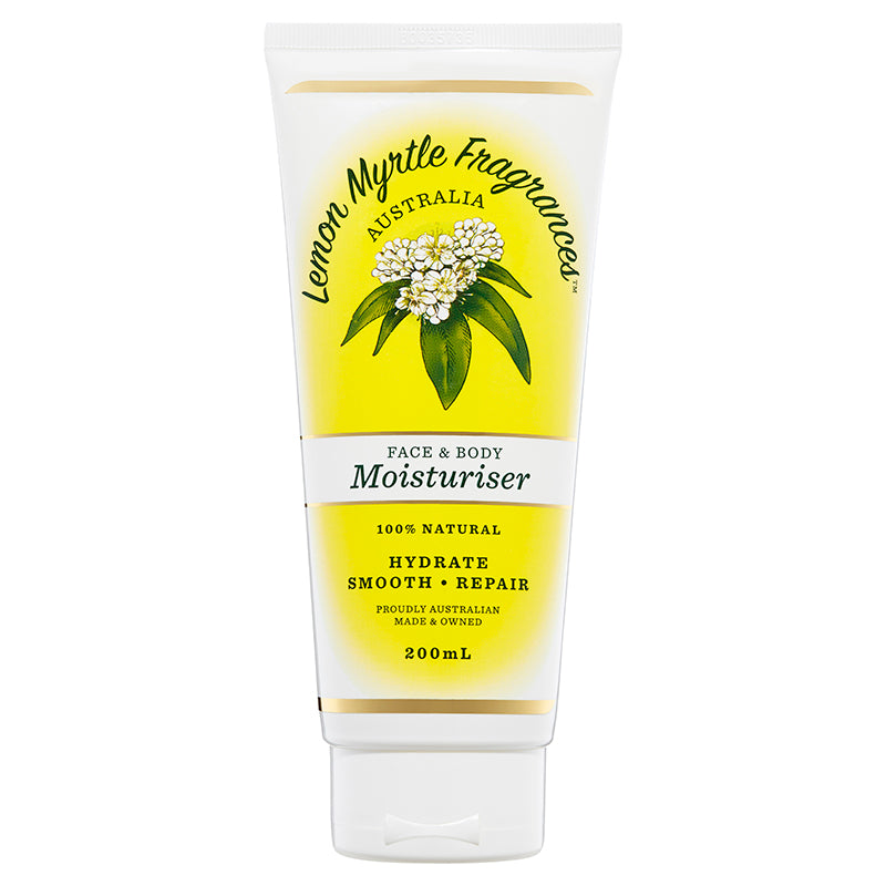 Natural Lemon Myrtle Face, Hands & Body Moisturiser - 200mL
