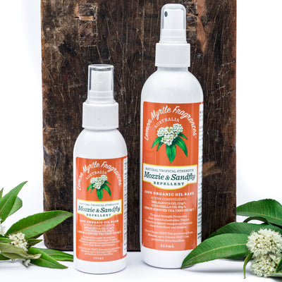 Lemon Myrtle Fragrances Natural Tropical Strength Mozzie & Sandfly Repellent