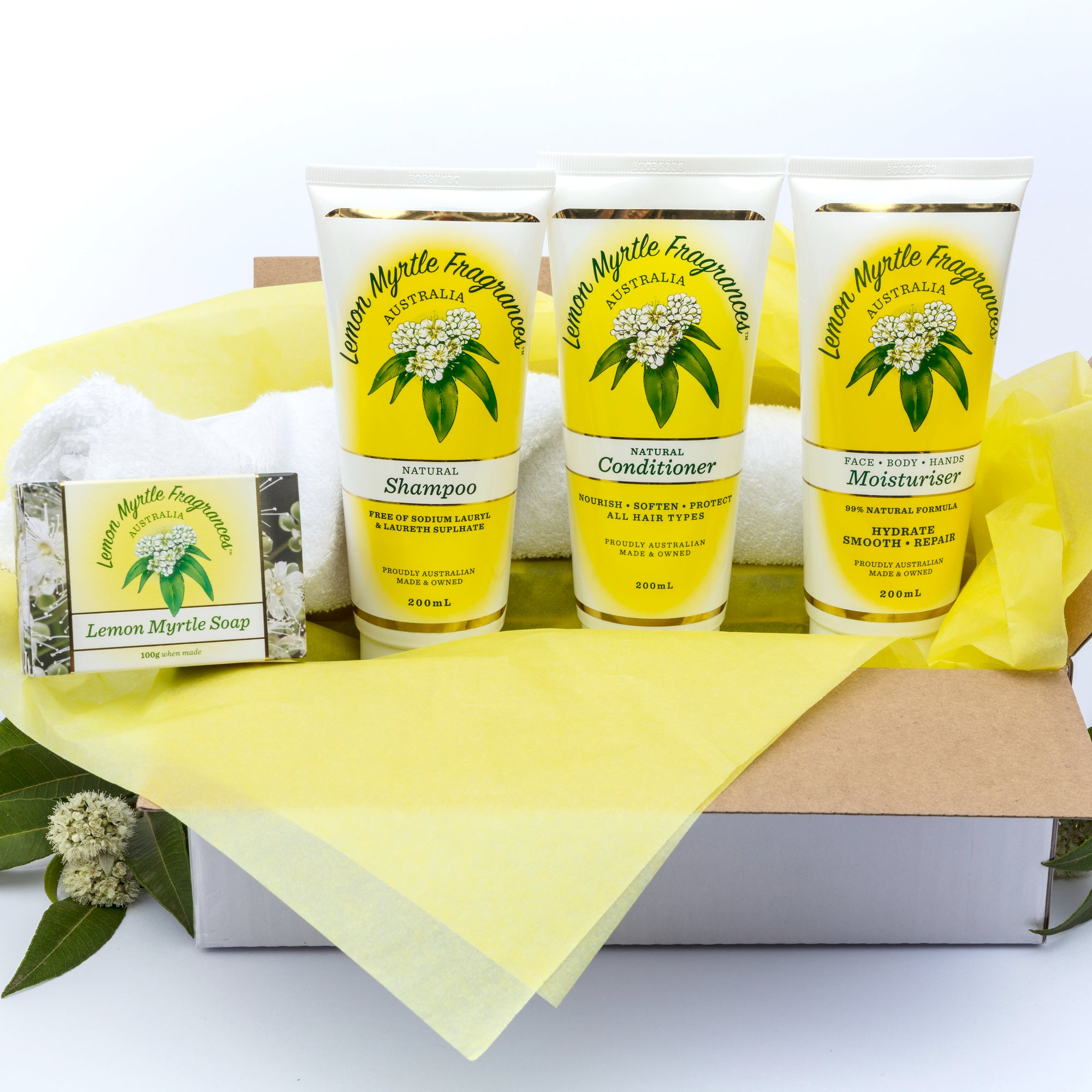 Natural Lemon Myrtle Shower and Moisturise Gift Box