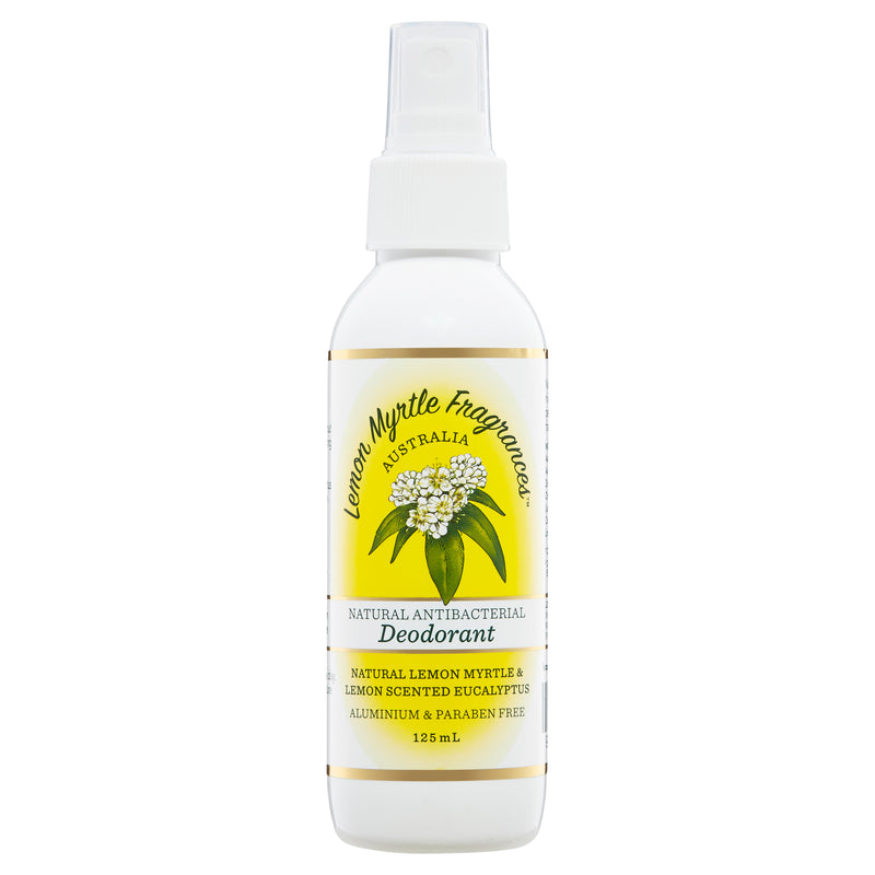 Natural Lemon Myrtle Antibacterial Spray Deodorant - 125mL