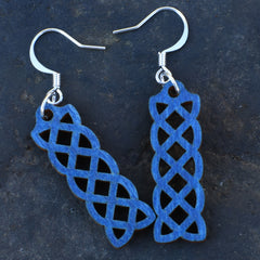 Celtic Knot Laser Cut Birchwood Earrings