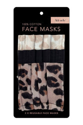 Cotton Mask Set in Leopard