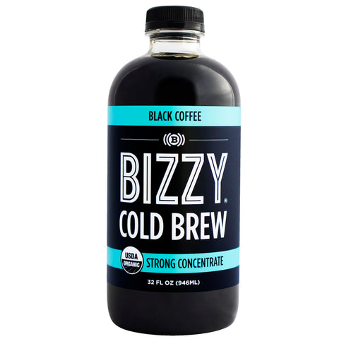 Bizzy Cold Brew Coffee Concentrate - USDA Organic (32 oz Black, 1 Pack)