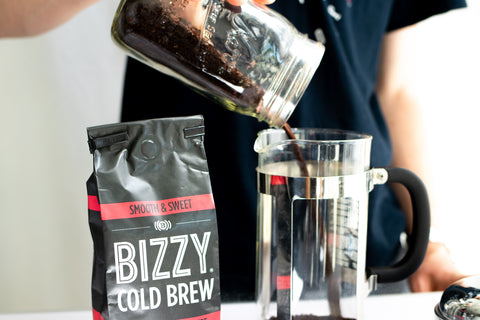 How to make cold brew coffee: ground coffee