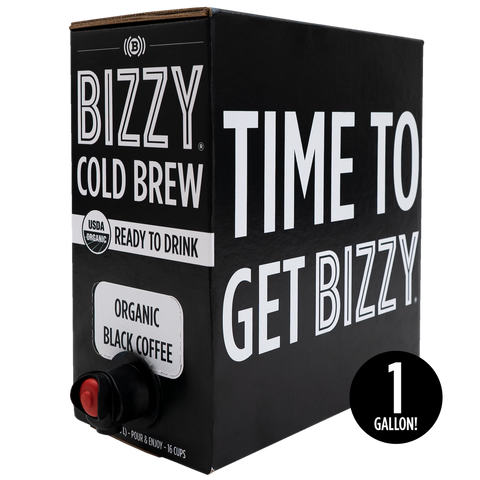 1 gallon - READY-TO-DRINK BOX - Bizzy Organic Cold Brew Coffee on Tap