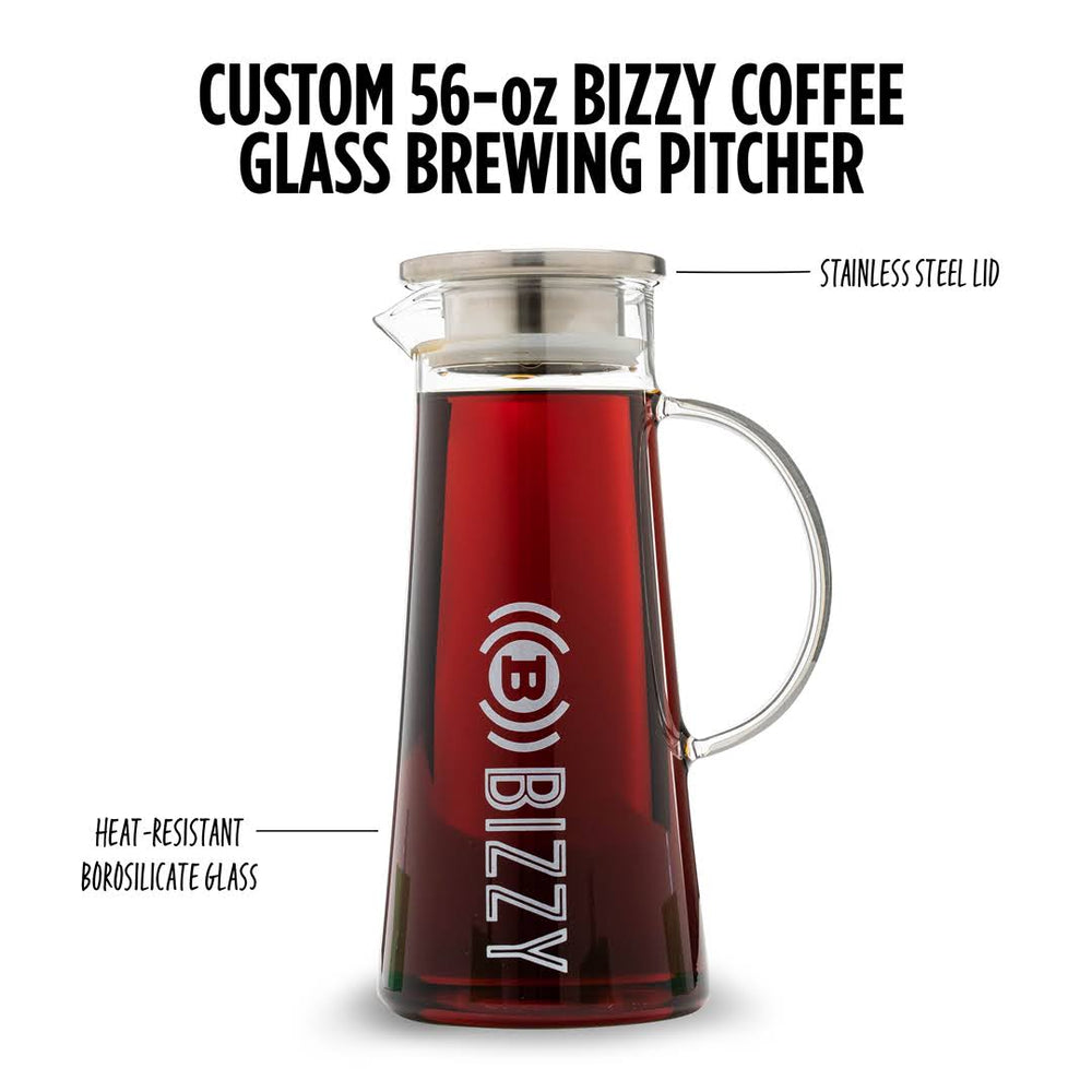 Load image into Gallery viewer, Bizzy 56oz Glass Pitcher