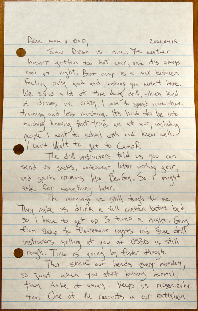 Mail Call…Send Letters to Your Recruit at Marine Boot Camp
