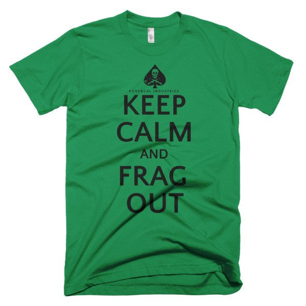 Keep Calm T-Shirt (and frag out!) - Korengal Industries