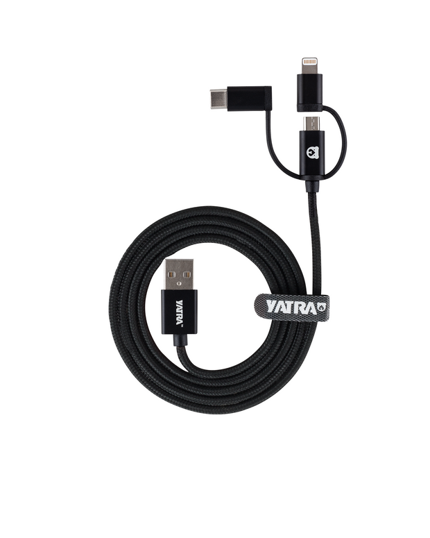 Yatra 3-in-1 MFI Cable