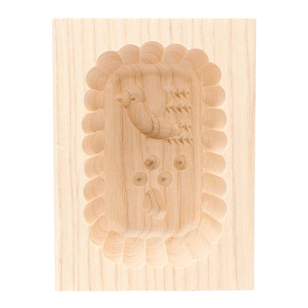Wooden Scalloped Edge Dove Butter Mould 125g
