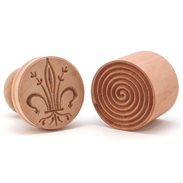 Pearwood Orris Fleur De Lis Lys Corzetti Stamp Smooth