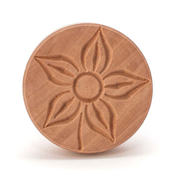 Pearwood 'Fiore' Flower Corzetti Stamp / Press Mould