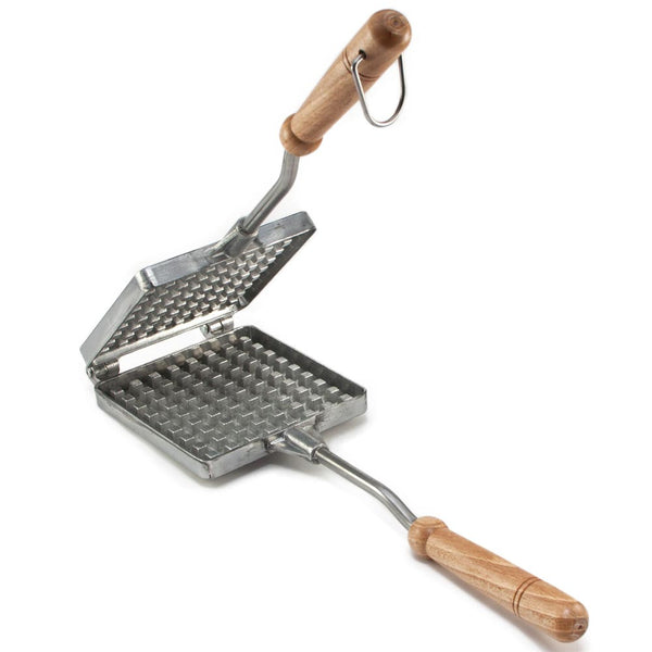 Traditional Old Fashioned Cast Aluminium Waffle Iron