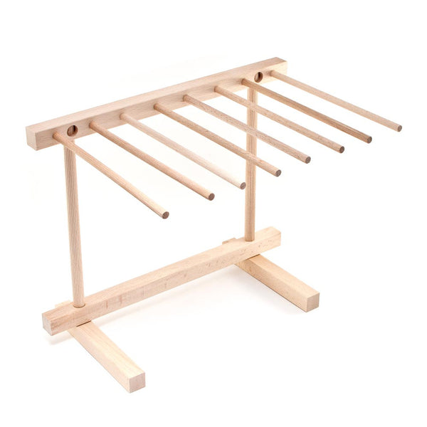 Fold Flat Wooden Pasta Drying Rack