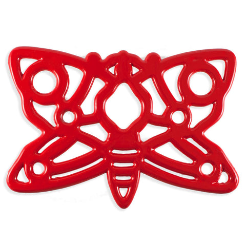 Red Butterfly Trivet