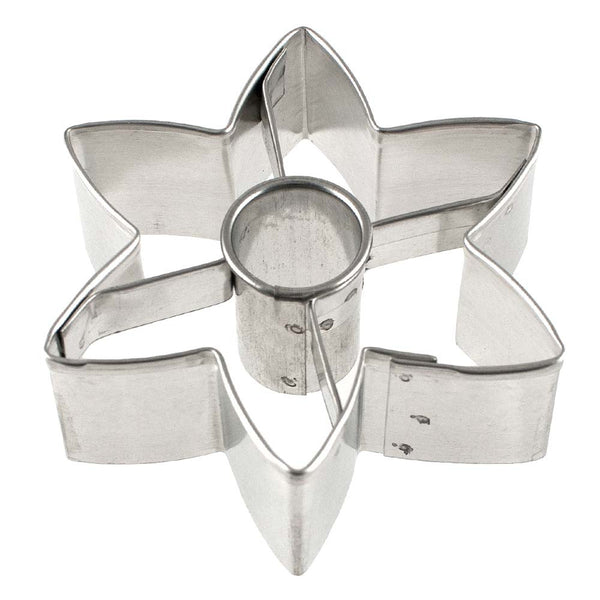 Flower With Central Hole Cookie / Biscuit Cutter