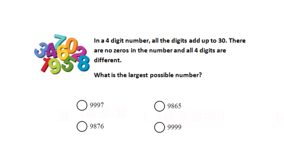 Class 3 Maths Olympiad questions on Numbers
