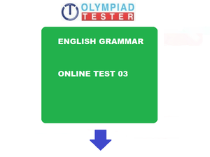 English Olympiad Class 3 Sample question paper - Grammar 03