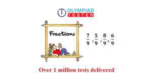 Class 4 Maths Olympiad Sample paper on Fractions