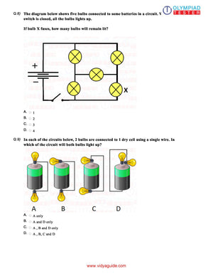 CBSE Science Class 6 Sample papers on Electricity and circuits - Set 01