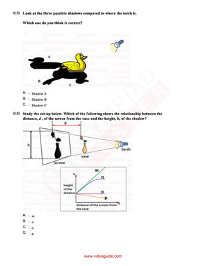 CBSE Science Class 6 Sample paper on Light - Worksheet 03