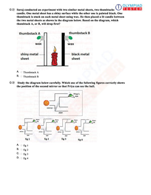 CBSE Science Class 6 Sample paper on Light - Worksheet 04
