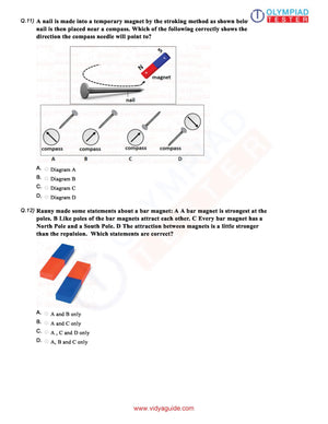CBSE Science Class 6 Sample papers on Fun with Magnets - Set 01 (Worksheets)
