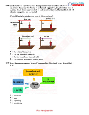 CBSE Science Class 6 Sample papers on Sorting and separation of materials - Set 02