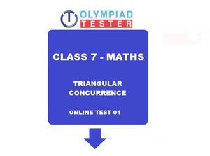 Online Class 7 Maths Olympiad test on Triangular Concurrence - 01