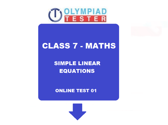 Class 7 maths simple linear equations online test 01