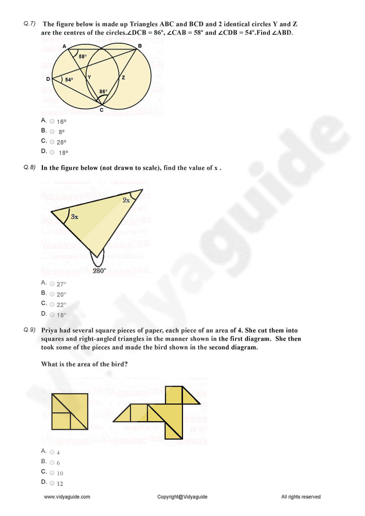 Class 7 Maths triangle and its properties Worksheets