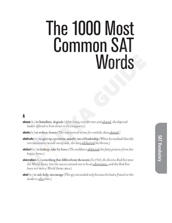 SAT Vocabulary list 1000 words