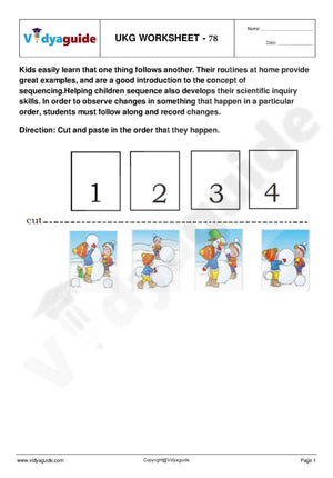 UKG Worksheets PDF free download - 78