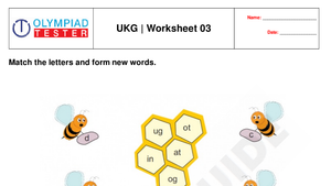 UKG free printable practice worksheet - 03