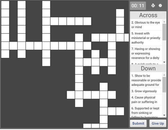 Daily online crossword puzzle - 17 Jan 2019