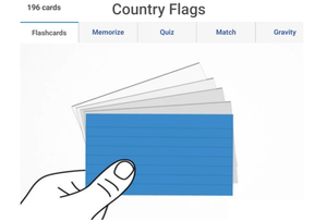 Online Country flags flashcards