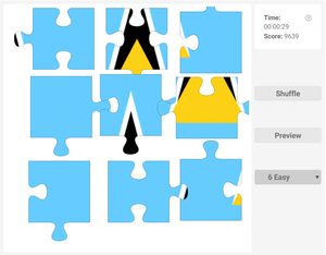 Online Jigsaw puzzle on country flags - Saint Lucia