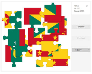 Online jigsaw puzzles for kids - Country flag of Grenada