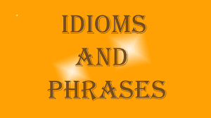 Free Online English Vocabulary Phrases and Idioms guide
