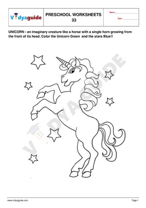 Free Printable Preschool worksheet - 33 34 35