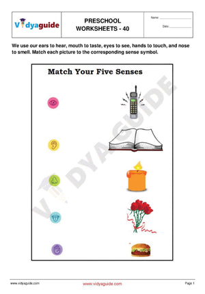 Free Printable Preschool worksheet - 40