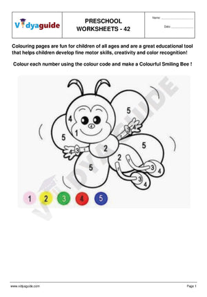 Free Printable Preschool worksheet - 42