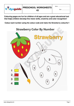 Free Printable Preschool worksheet - 43