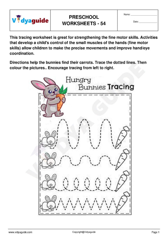 Free printable Preschool worksheet - 53 54