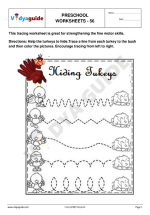 Free Printable Preschool worksheet - 56