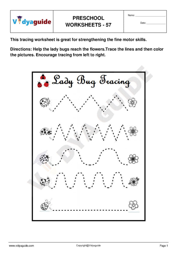 Free Printable Preschool worksheet - 57
