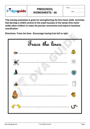 Free Printable Preschool worksheet - 58